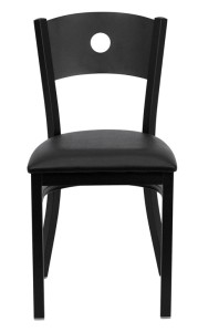 CIRCLE BACK RESTAURANT CHAIR WITH VINYL SEAT
