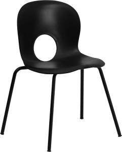 HERCULES SERIES BLACK PLASTIC CHAIR