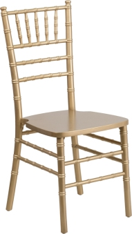 WOOD CHIAVARI CHAIR GOLD